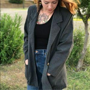 Oversized Vintage Gray Blazer